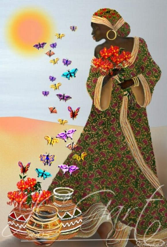 contemporaryfineart-lady-with-butterflies-african-people (1)