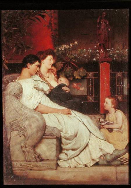 RA15087 A Roman Family (oil on canvas) by Alma-Tadema, Sir Lawrence (1836-1912) oil on canvas Private Collection English, out of copyright